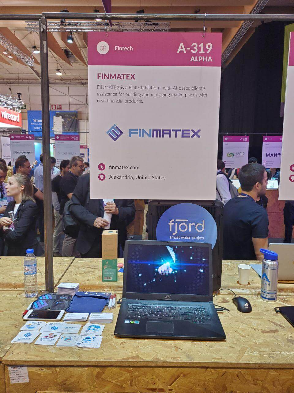 finmatex at web summit 2019 startups booth